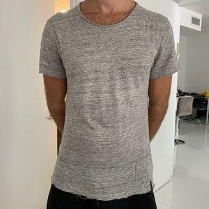 Zara knit tshirt L - grey